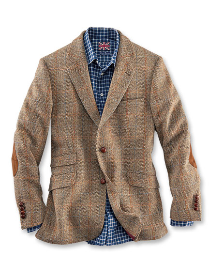 Britischer tweed mantel