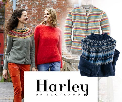 Strickwaren von Harley of Scotland